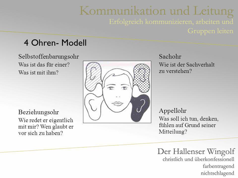 4 Ohren- Modell Selbstoffenbarungsohr Was ist das für einer.