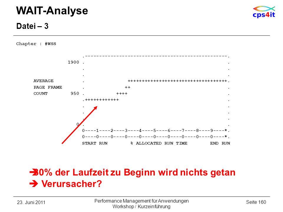 WAIT-Analyse Datei – 3 Chapter : #WSS.--------------------------------------------------. 1900.... AVERAGE. +++++++++++++++++++++++++++++++++++. PAGE