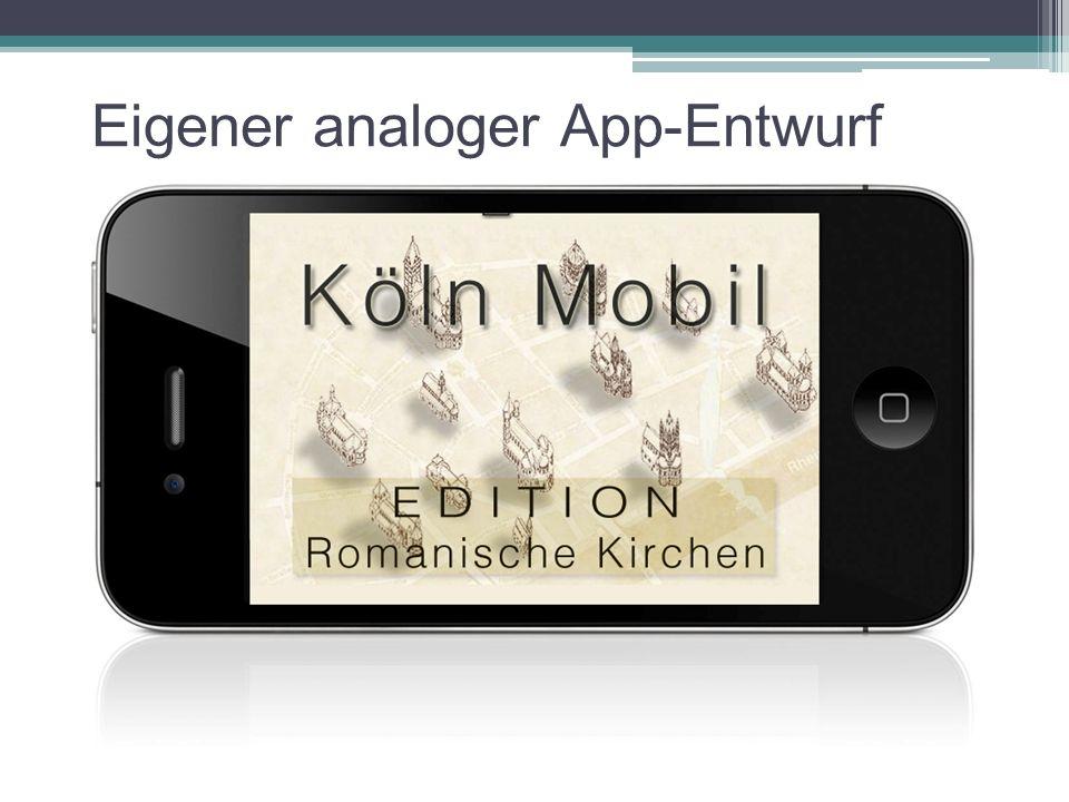 Eigener analoger App-Entwurf