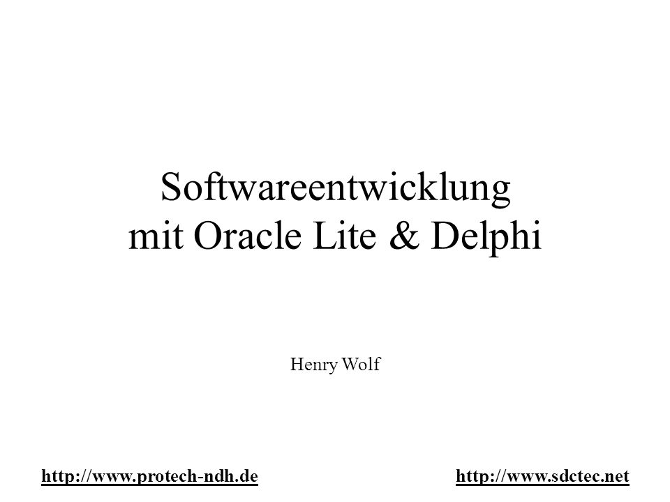 Object Kernel API (OKAPI) -Objekbasierender Direkt-Zugriff auf Oracle Lite Objekte -Objekt-Clustering -Unterstützt Blobs -Unterstützung von Transaktionen und Crash Recovery