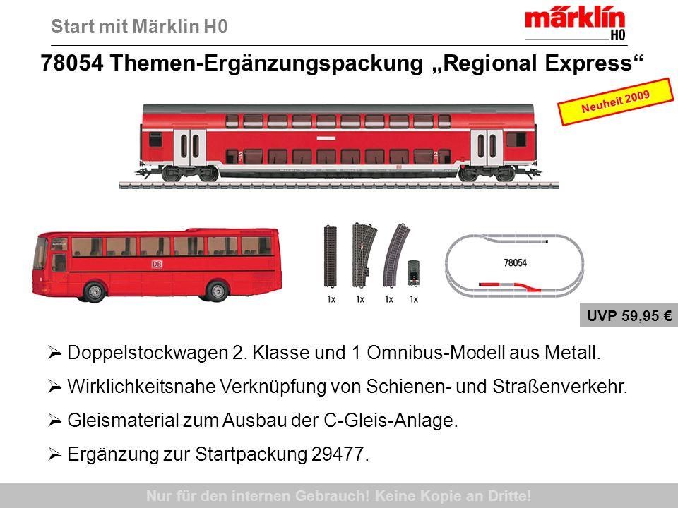 78054 Themen-Ergänzungspackung Regional Express Nur für den internen Gebrauch! Keine Kopie an Dritte! - Doppelstockwagen 2. Klasse und 1 Omnibus-Model