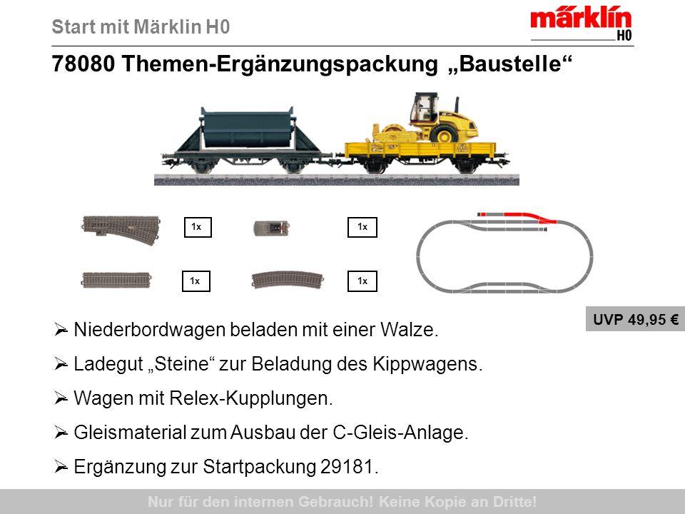 78080 Themen-Ergänzungspackung Baustelle Nur für den internen Gebrauch! Keine Kopie an Dritte! UVP 49,95 - Niederbordwagen beladen mit einer Walze. -