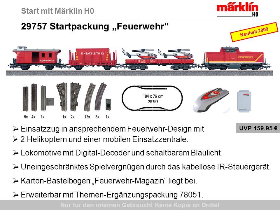 55038 Digital-Startpackung Spur 1, DB, Ep.III Start mit Märklin 1 Nur für den internen Gebrauch.