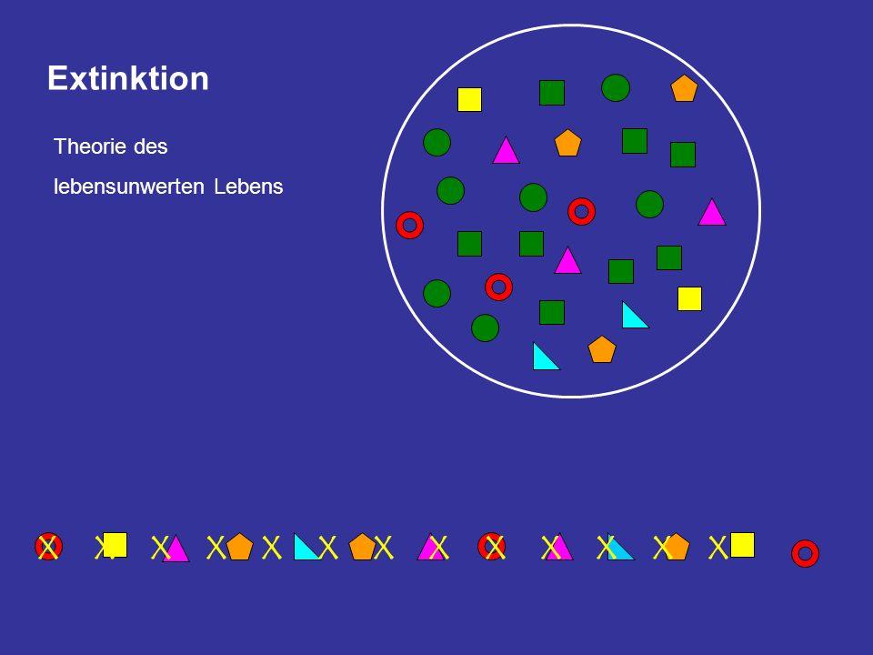 Extinktion Theorie des lebensunwerten Lebens X X X X X X X X X X X X X