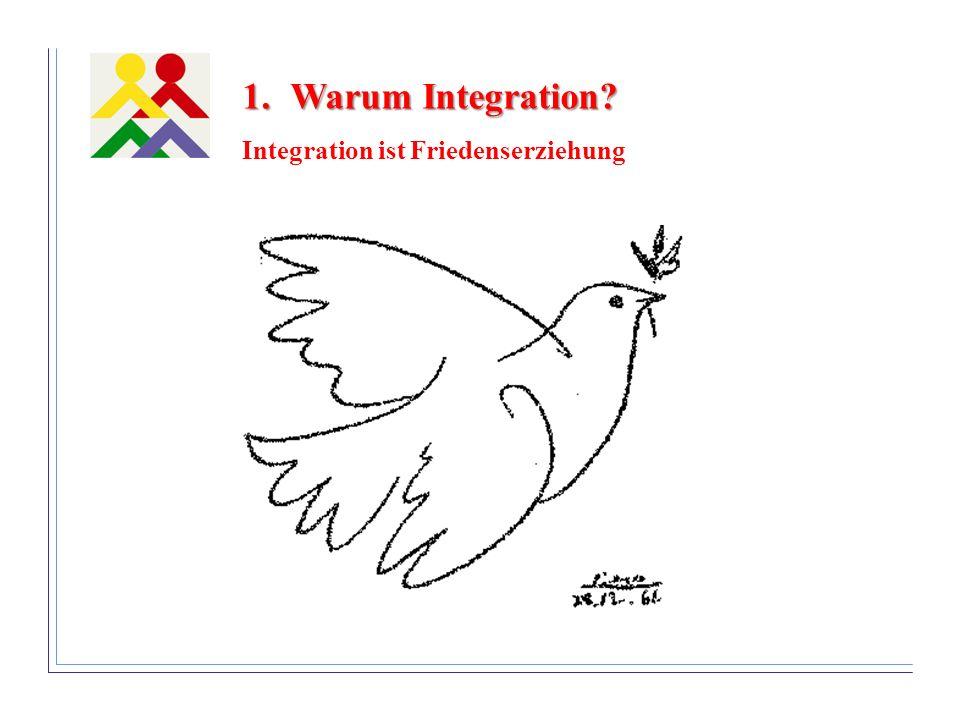 1.Warum Integration? Integration ist Friedenserziehung