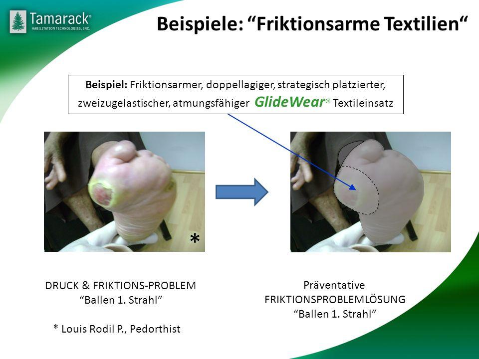 Beispiele: Friktionsarme Textilien DRUCK & FRIKTIONS-PROBLEM Ballen 1.