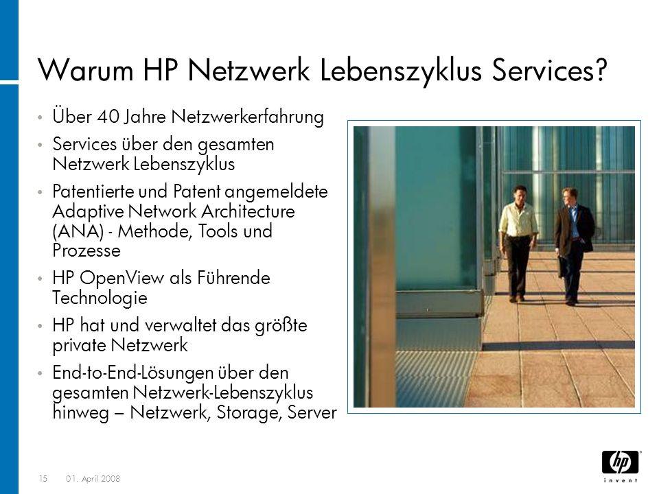 1501.April 2008 Warum HP Netzwerk Lebenszyklus Services.