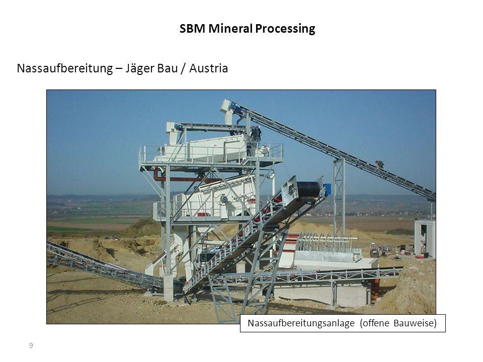 9 Nassaufbereitung – Jäger Bau / Austria Nassaufbereitungsanlage (offene Bauweise) SBM Mineral Processing
