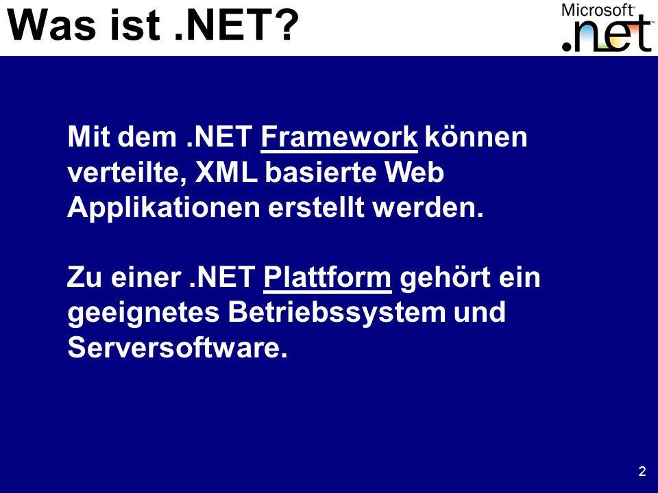 13 JIT CompilerKlasse A Methode 1 (IL) Methode 2 (IL) Methode 3 (IL) Methode 4 (IL) Klasse B Methode 1 (IL) Methode 2 (IL) (1) Methodenaufruf (2) IL-Code durch native Code ersetzen Methode 1 (ASM) Basics Code wird kompiliert