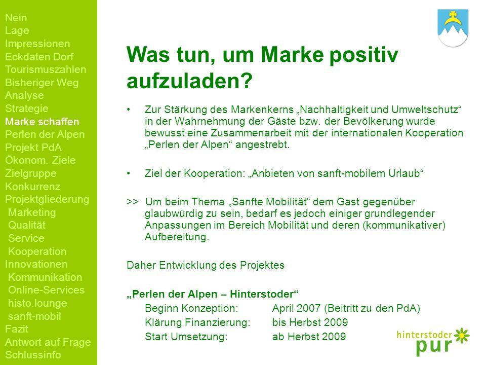 Was tun, um Marke positiv aufzuladen? Zur Stärkung des Markenkerns Nachhaltigkeit und Umweltschutz in der Wahrnehmung der Gäste bzw. der Bevölkerung w