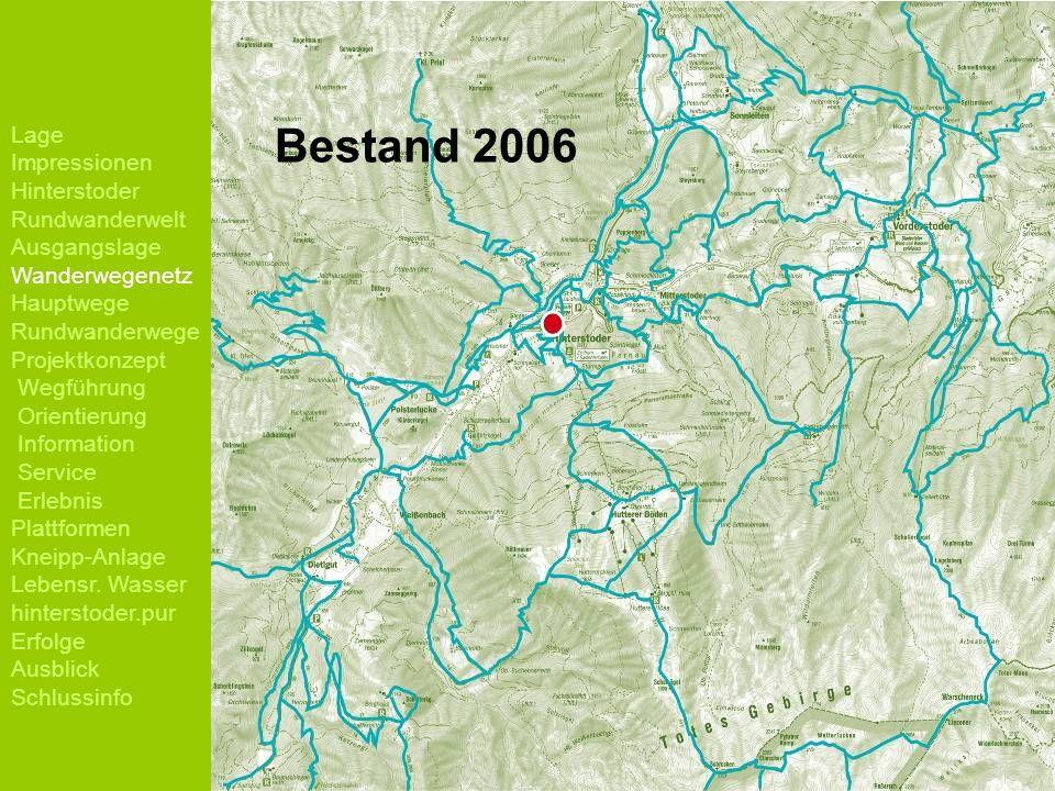 Lage Impressionen Hinterstoder Rundwanderwelt Ausgangslage Wanderwegenetz Hauptwege Rundwanderwege Projektkonzept Wegführung Orientierung Information