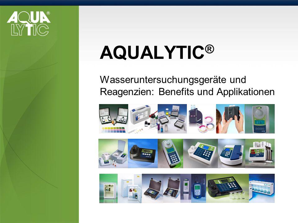 AQUALYTIC ® Wasseruntersuchungsgeräte und Reagenzien: Benefits und Applikationen