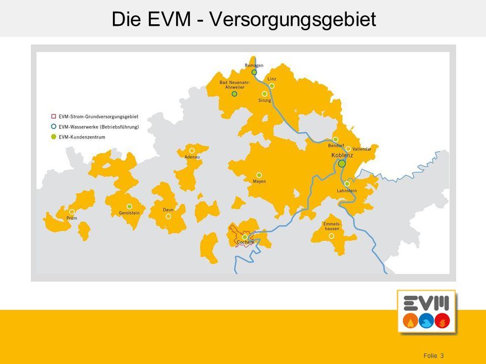 Folie 3 Die EVM - Versorgungsgebiet