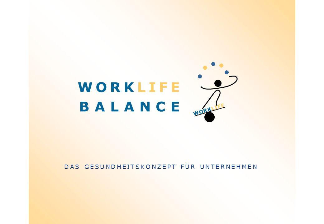 B A L A N C E DAS GESUNDHEITSKONZEPT FÜR UNTERNEHMEN WORKLIFE