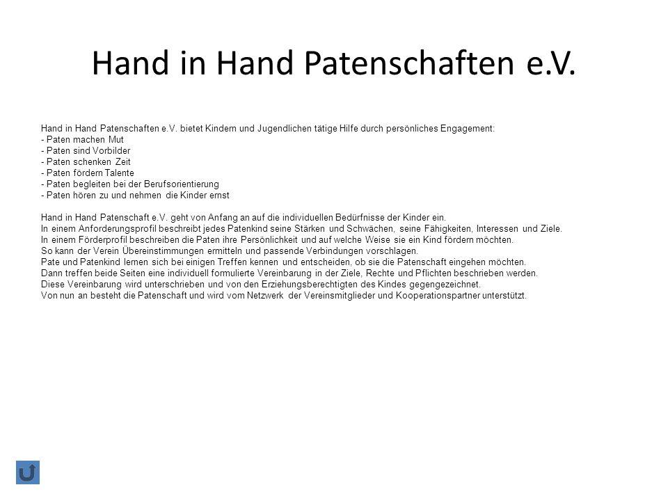 Hand in Hand Patenschaften e.V.Hand in Hand Patenschaften e.V.