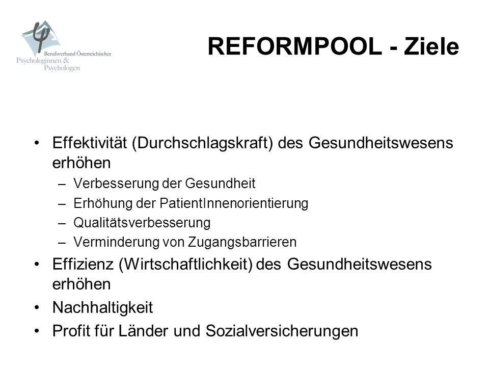 REFORMPOOL - Mittel zu gleichen Teilen aus Mitteln des intra- und extramuralen Bereichs gespeist 2005/06 - 1% der Gesamtmittel des intra- und extramuralen Bereichs 2007/08 - 2 % dieser Mittel