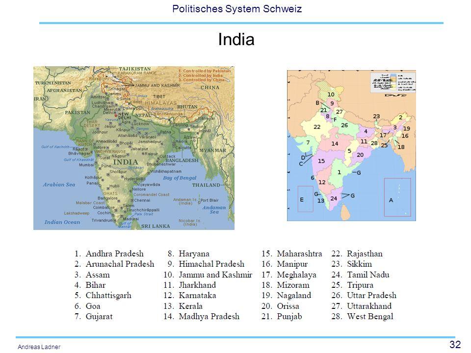32 Politisches System Schweiz Andreas Ladner India