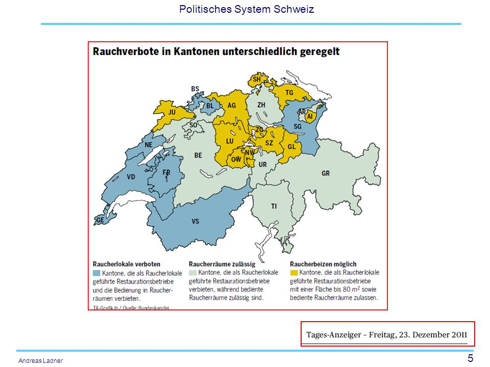 56 Politisches System Schweiz Andreas Ladner Tax systems Income tax and value added tax Which shares go to the different tiers.