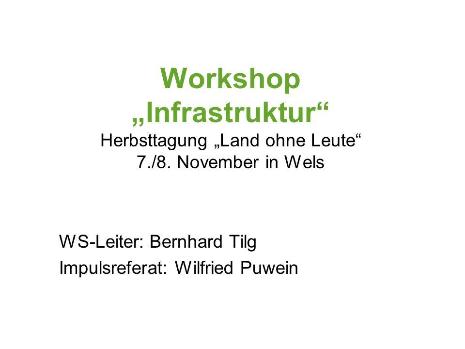 Workshop Infrastruktur Herbsttagung Land ohne Leute 7./8.