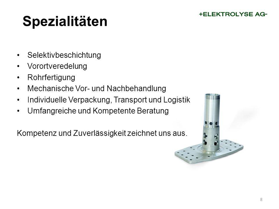 Selektivbeschichtung Vorortveredelung Rohrfertigung Mechanische Vor- und Nachbehandlung Individuelle Verpackung, Transport und Logistik Umfangreiche u