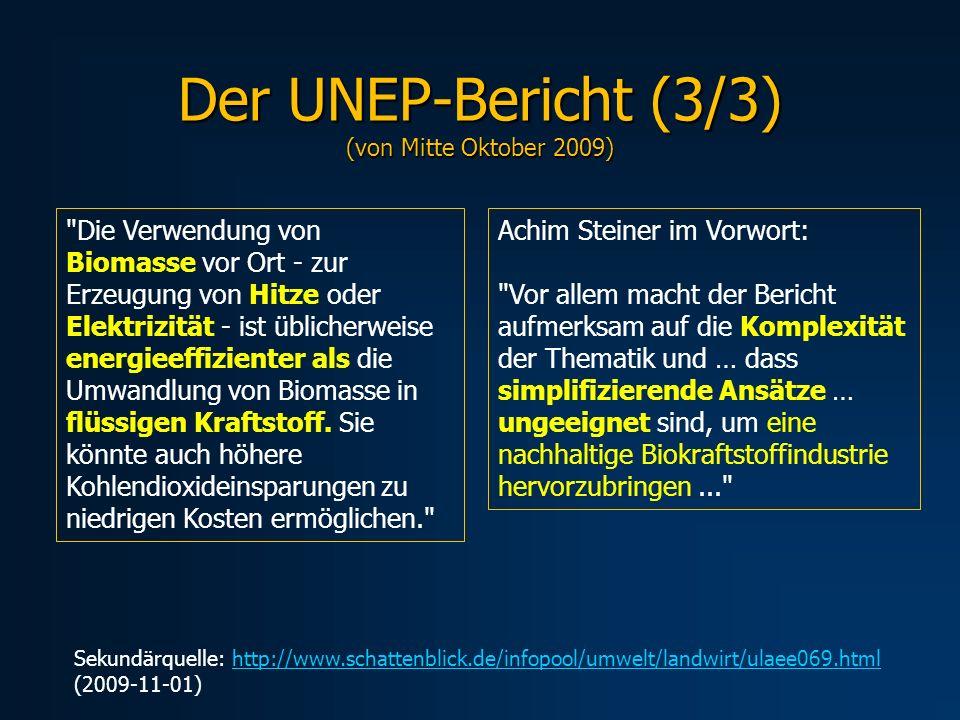 Der UNEP-Bericht (3/3) (von Mitte Oktober 2009)