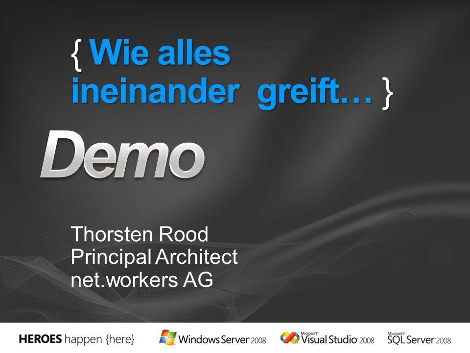 { Wie alles ineinander greift… } Thorsten Rood Principal Architect net.workers AG