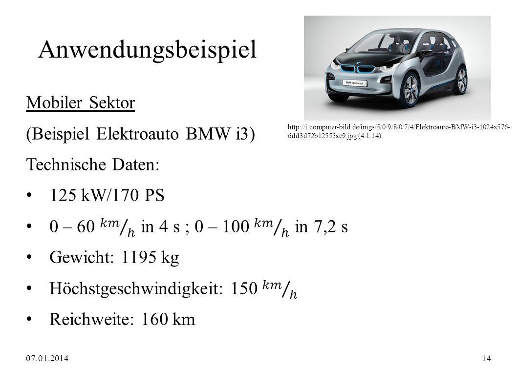 Anwendungsbeispiel http://i.computer-bild.de/imgs/5/0/9/8/0/7/4/Elektroauto-BMW-i3-1024x576- 6dd3d72b12555ac9.jpg (4.1.14) 07.01.201414