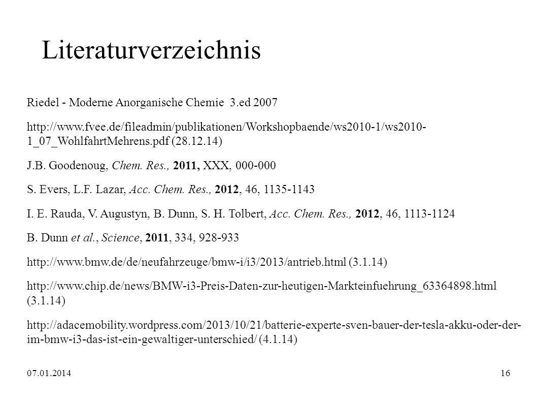 Literaturverzeichnis Riedel - Moderne Anorganische Chemie 3.ed 2007 http://www.fvee.de/fileadmin/publikationen/Workshopbaende/ws2010-1/ws2010- 1_07_Wo