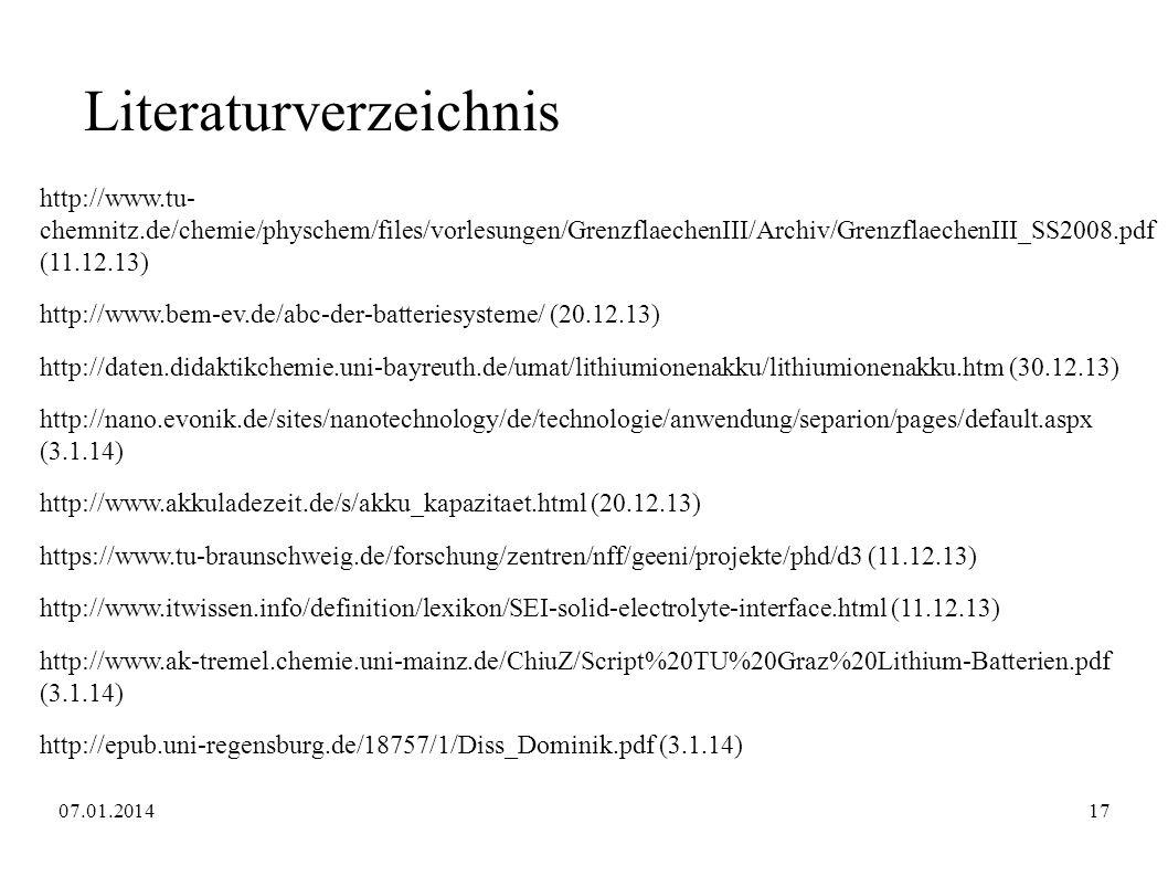 Literaturverzeichnis http://www.tu- chemnitz.de/chemie/physchem/files/vorlesungen/GrenzflaechenIII/Archiv/GrenzflaechenIII_SS2008.pdf (11.12.13) http: