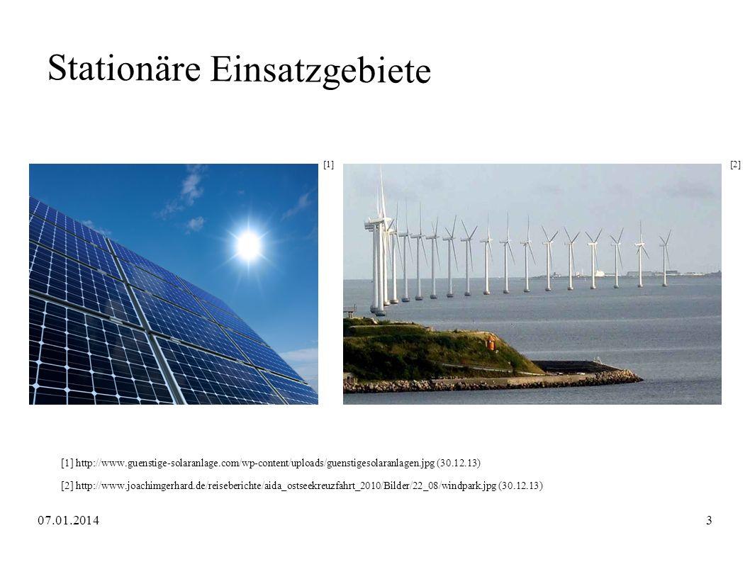 Stationäre Einsatzgebiete [1][2] [1] http://www.guenstige-solaranlage.com/wp-content/uploads/guenstigesolaranlagen.jpg (30.12.13) [2] http://www.joach