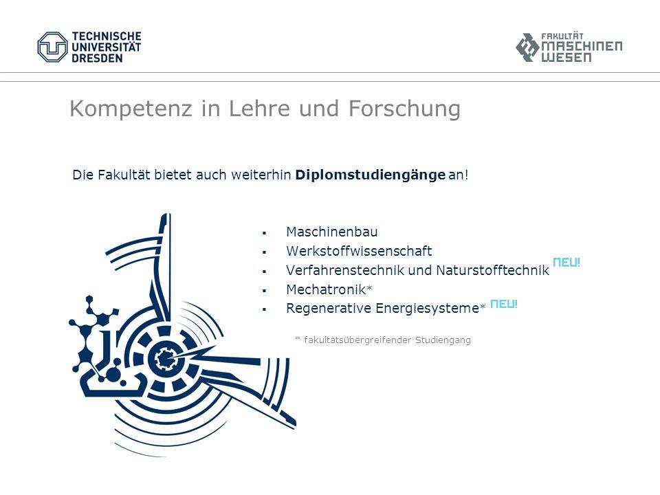 Diplom/Bachelor Deutschlandweit bietet nur die TU Dresden Maschinenbau als einstufigen, universitären Diplom-Studiengang oder im Fernstudium an!