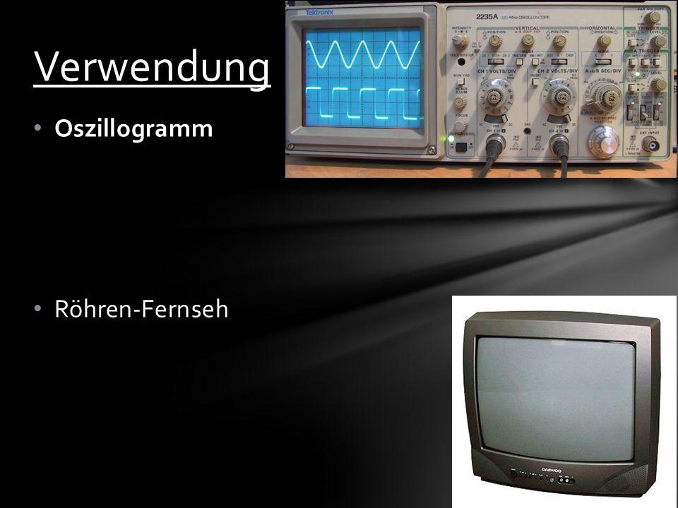 Oszillogramm Röhren-Fernseh Verwendung