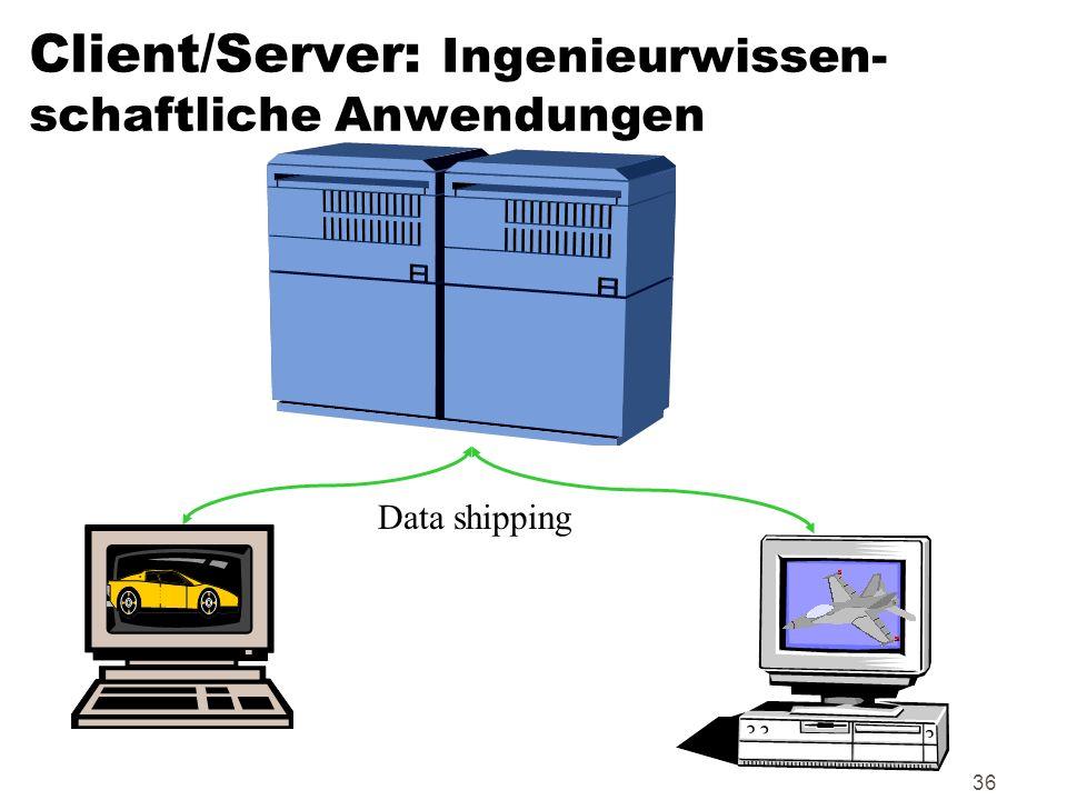36 Client/Server: Ingenieurwissen- schaftliche Anwendungen Data shipping