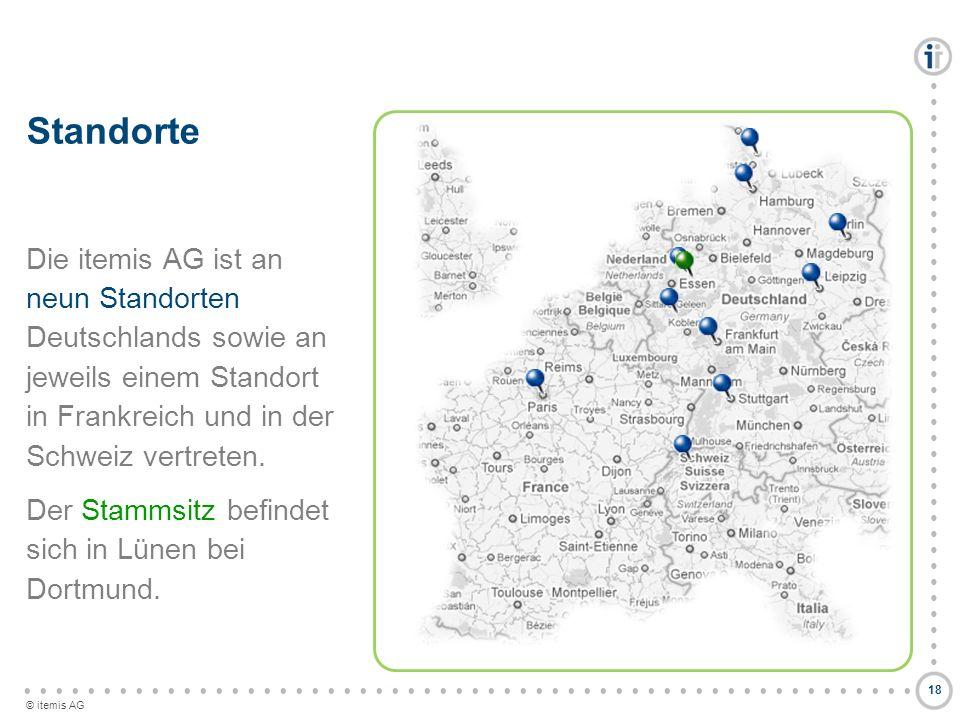 © itemis AG Standorte Die itemis AG ist an neun Standorten Deutschlands sowie an jeweils einem Standort in Frankreich und in der Schweiz vertreten. De