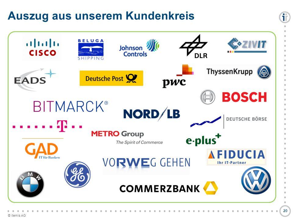 © itemis AG Auszug aus unserem Kundenkreis 20
