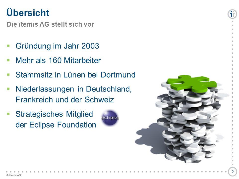 © itemis AG Übersicht Gründung im Jahr 2003 Mehr als 160 Mitarbeiter Stammsitz in Lünen bei Dortmund Niederlassungen in Deutschland, Frankreich und de