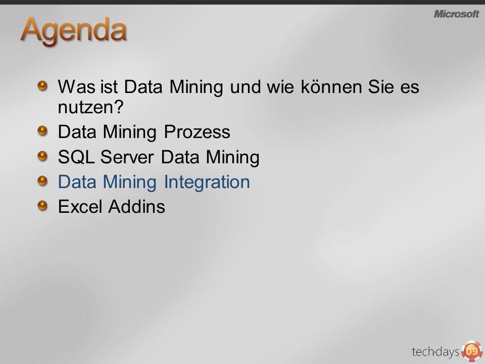 Was ist Data Mining und wie können Sie es nutzen? Data Mining Prozess SQL Server Data Mining Data Mining Integration Excel Addins