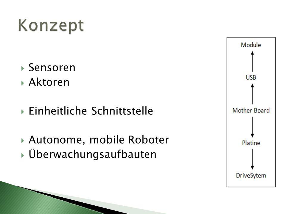 Sensoren Aktoren Einheitliche Schnittstelle Autonome, mobile Roboter Überwachungsaufbauten