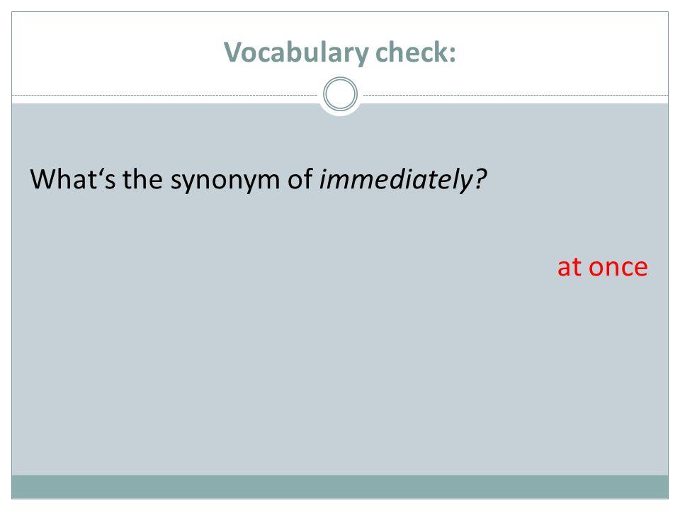 Vocabulary check: Give the German word of: between zwischen