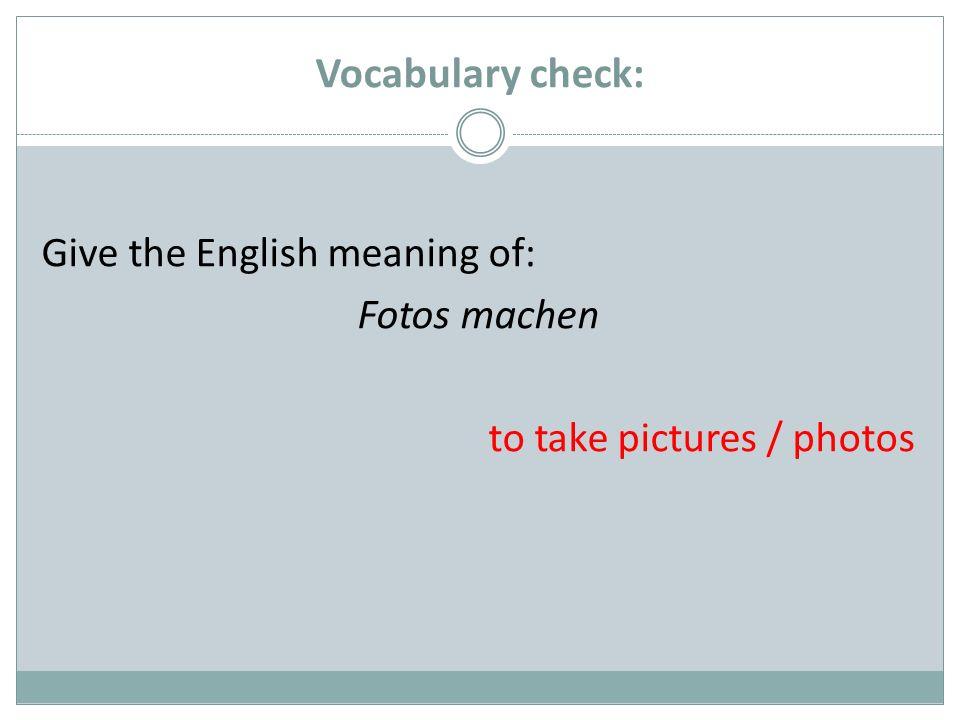 Ergänzen Sie die Aussage zur Grammatik: Das simple present wird für Handlungen verwendet, die im Moment statt finden.