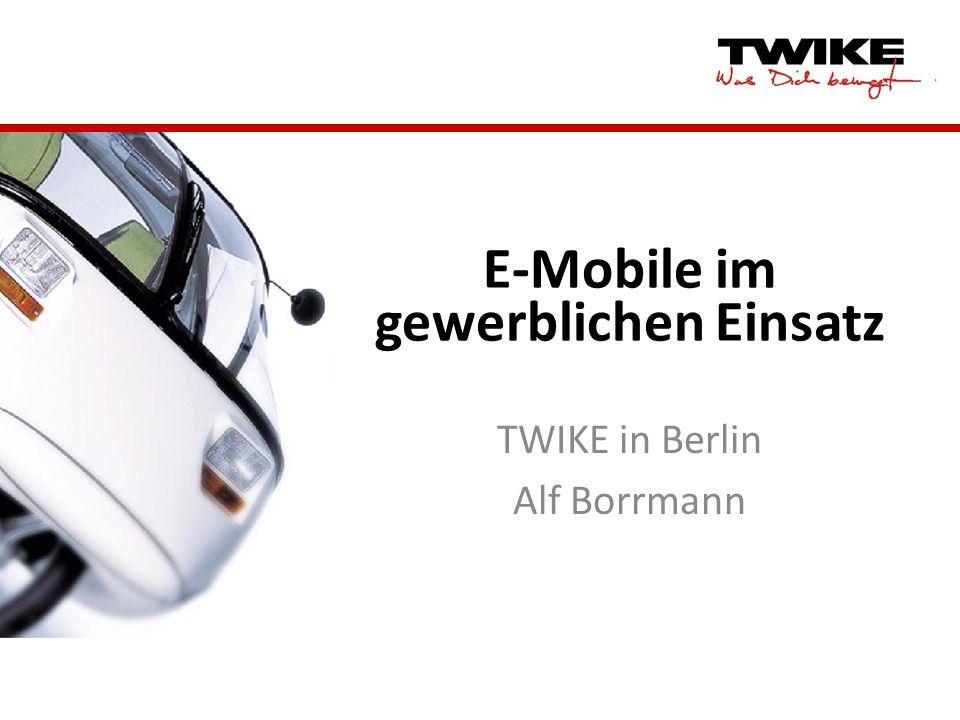 E-Mobile im gewerblichen Einsatz TWIKE in Berlin Alf Borrmann