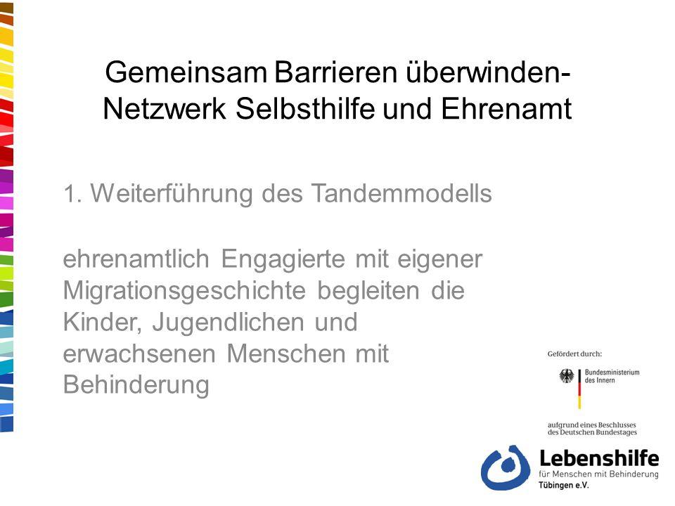 Gemeinsam Barrieren überwinden- Netzwerk Selbsthilfe und Ehrenamt 1.