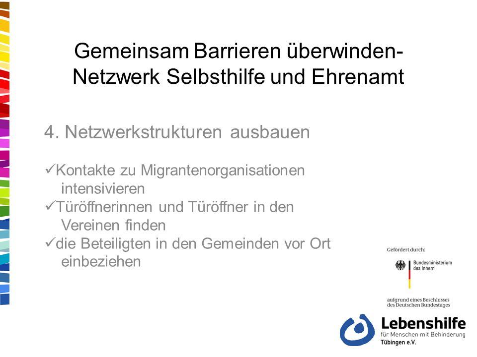 Gemeinsam Barrieren überwinden- Netzwerk Selbsthilfe und Ehrenamt 4.