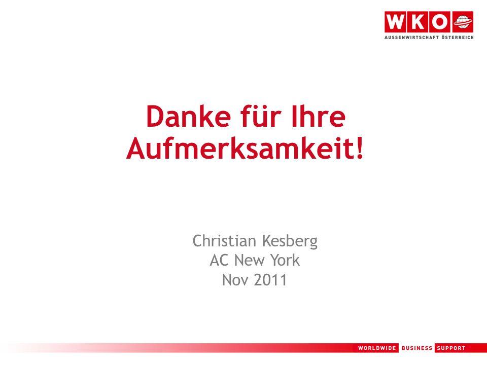 19 Danke für Ihre Aufmerksamkeit! Christian Kesberg AC New York Nov 2011