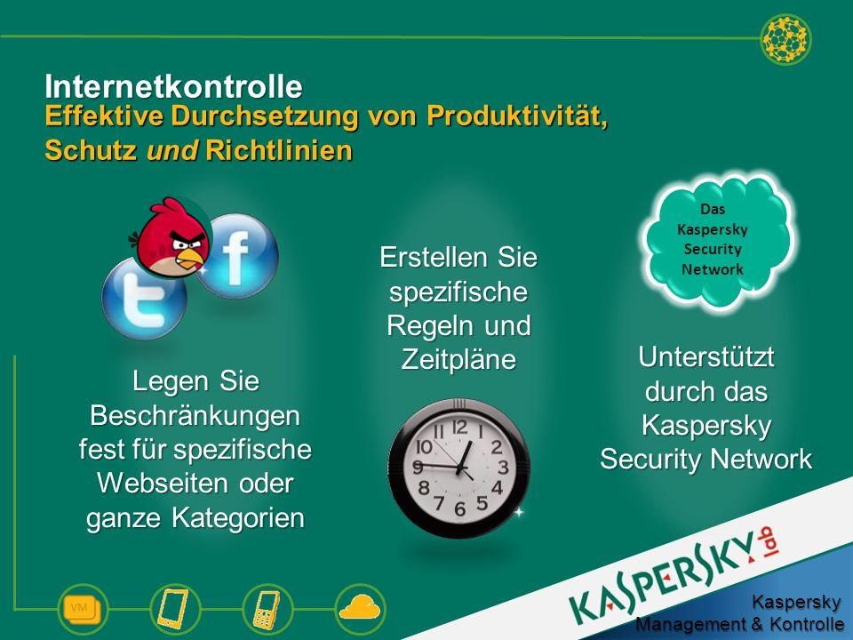 Internetkontrolle Effektive Durchsetzung von Produktivität, Schutz und Richtlinien Legen Sie Beschränkungen fest für spezifische Webseiten oder ganze
