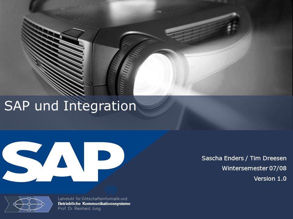 22 Integrationsebene – Prozessintegration Prozesse auf unterschiedlichen Systemen miteinander zu verbinden Aufgabe Ziel Systemübergreifende Realisierung von Geschäftsprozessen ermöglichen Lösung Exchange Infrastructure Architektur (SAP XI)