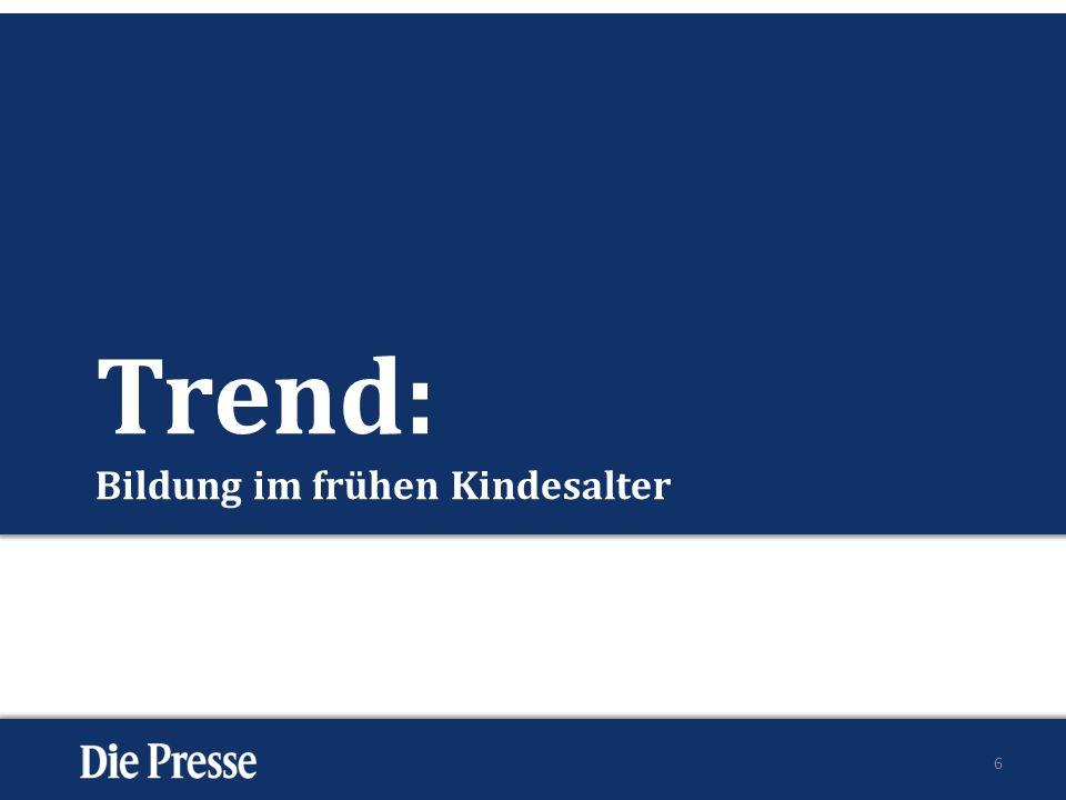 Trend: Bildung im frühen Kindesalter 6