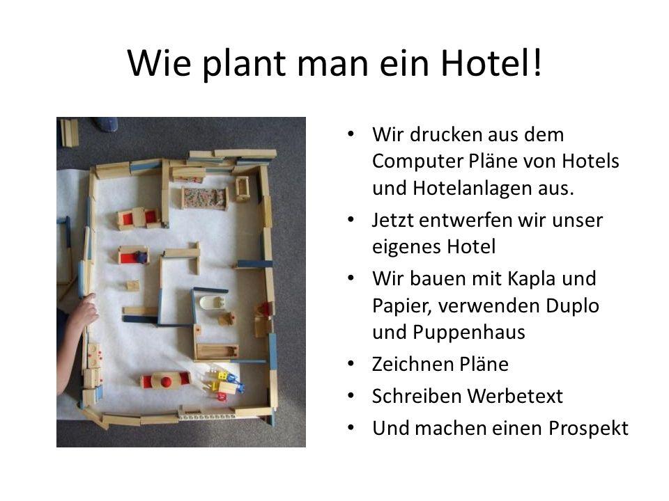 Wie plant man ein Hotel.Wir drucken aus dem Computer Pläne von Hotels und Hotelanlagen aus.