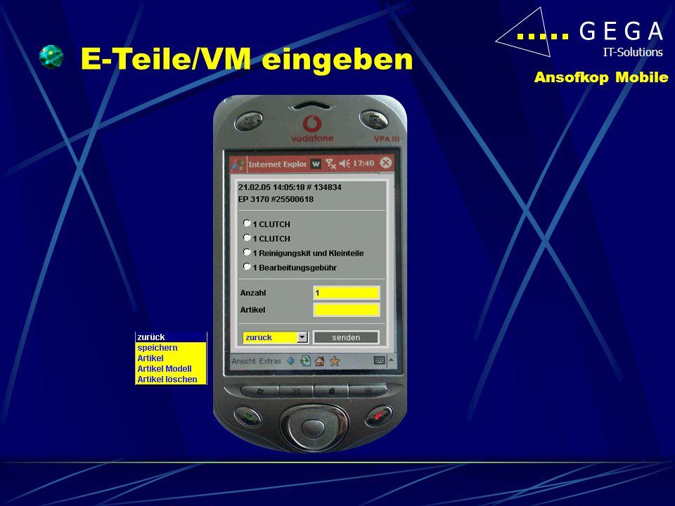 G E G A IT-Solutions Ansofkop Mobile Lebenslauf anzeigen