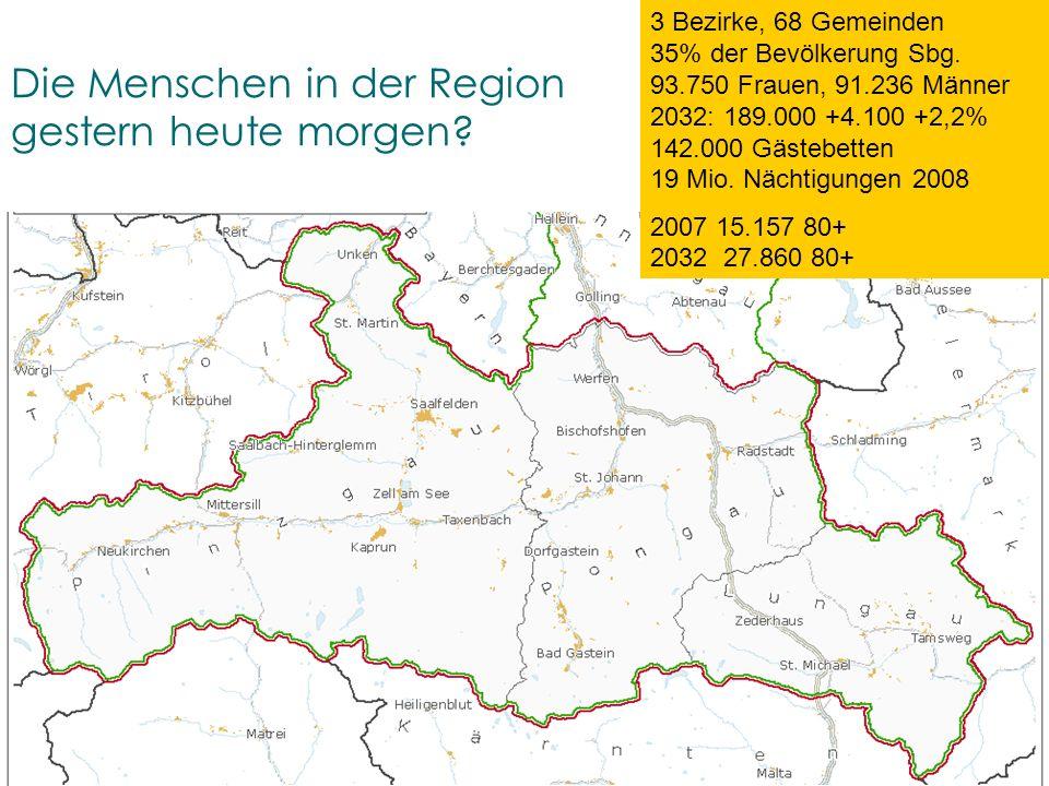 Land Salzburg – Universität Salzburg – planwind.at – rsa-iSPACE – ÖIR-Salzburg – conSalis ETZ- ALPENRAUM 18.03.11 (GA) Die Menschen in der Region gest